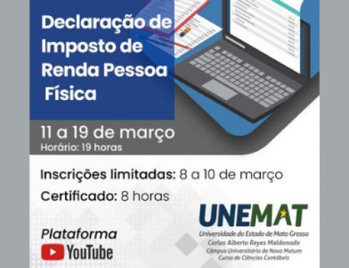 Unemat oferece curso sobre Declaração de Imposto de Renda Pessoa Física