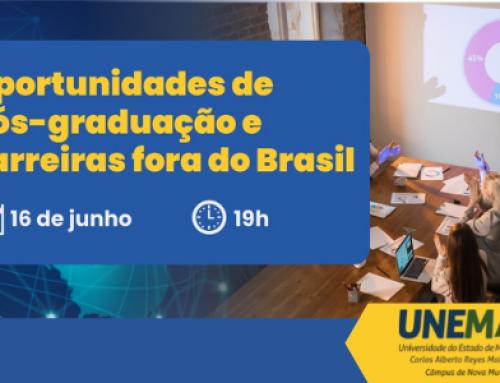Unemat realiza live sobre oportunidades de pós-graduação e carreiras fora do Brasil
